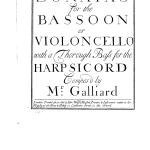 Sonate N°1 en La mineur de Johann Ernst Gaillard : Audios de travail