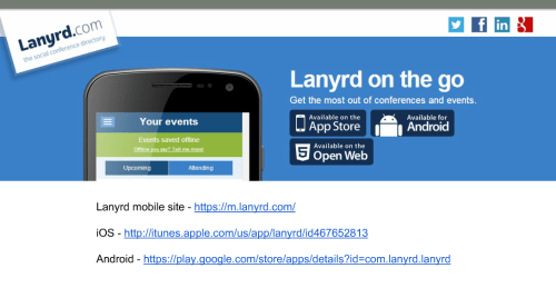 Lanyrd Mobile Devices