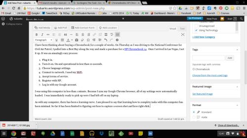Screenshot of Chromebook