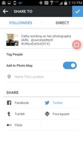 Add caption to Instagram photo