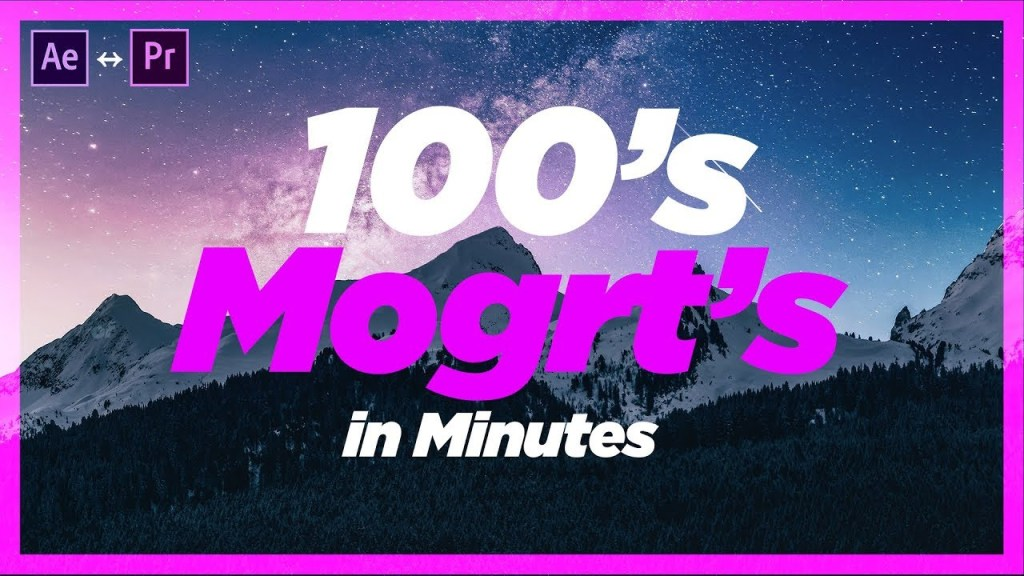 100's of Motion Graphic Templates In Minutes! #MINDBLOWN