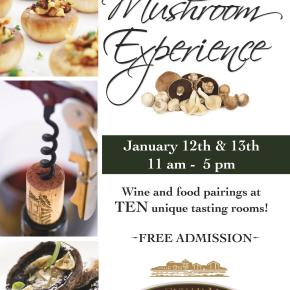 Wine & Mushroom Experience at the Old Sugar Mill – Jan 12th and 13th