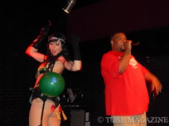Jay Siren and Cam doing an improv burlesque/rap routine Photo by Ryan Stewart