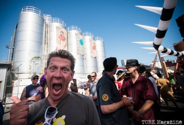 Loren Swartos enjoying himself very much at the 2014 Lagunitas Beer Circus held in Petaluma CA. Photo Melissa Uroff
