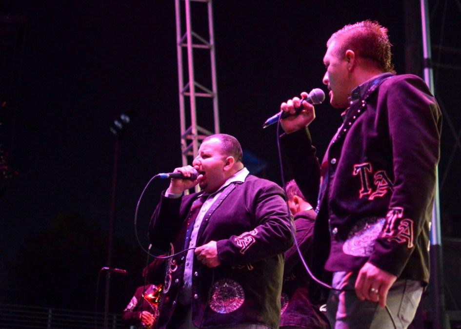 The lead singers of Banda Tierra Azteca. Photo Alejandro Montaño.