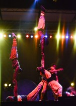 The Human Pyramid, an acrobatic show presented by the Circus of Light at the Global Stage. Photo Alejandro Montaño.