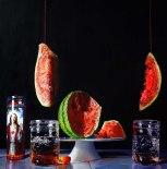 "The Devil Lives in a Quart Jar oil on canvas 30"" x 30"" Denise Stewart-Sanabria"