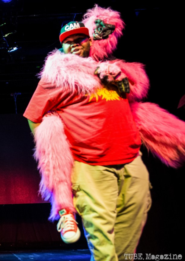 Cam and Trilla The Gorilla performing at The Sizzling Sirens Burlesque Experience at Assembly in Sacramento CA. September 2014. Photo Melissa Uroff