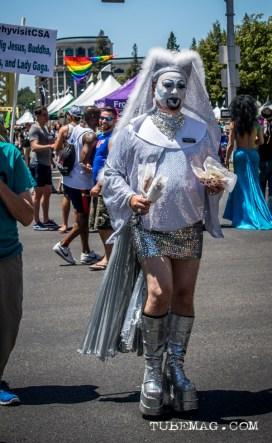 Amazing clothing and makeup was seen at Sac Pride 2015, Photo Sarah Elliott
