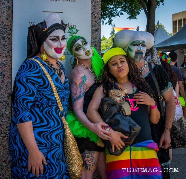 Festival goers all dressed up at Sac Pride 2015, Photo Sarah Elliott