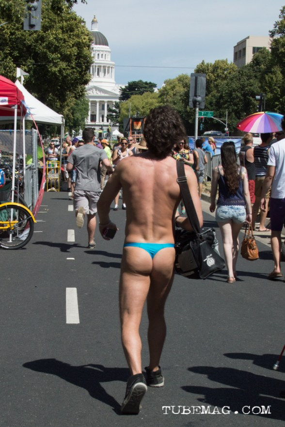 Sac Pride 2015, the one day of the year a person can walk around the Capitol in a thong. Sacramento, CA. 2015. Photo Alejandro Montaño.