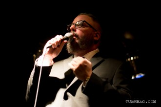 Comedian Johnny Taylor hosting the TUBE. Circus May 15, 2015 at the Blue Lamp in Sacramento CA. Photo Sarah Elliott.