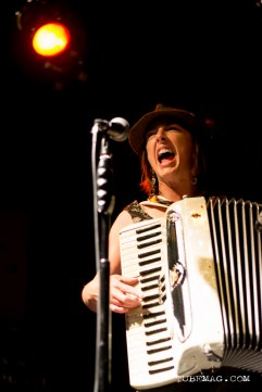 Julie the Bruce performing at the TUBE. Circus May 15 2015 at the Blue Lamp located in Sacramento CA. Photo Sarah Elliott.