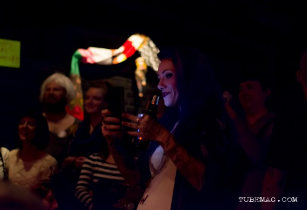 Christy Gruber at the TUBE. Circus at the Blue Lamp. Sacramento CA. May 15, 2015. Photo Sarah Elliott.