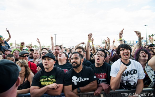 Punk Rock Bowling audience watching Anti-Flag. May 2015 Photo Melissa Uroff.