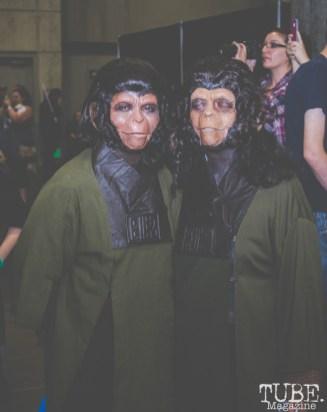 Planet of the Apes Cosplayers. Sacramento Wizard World Comic Con 2015. Photo Sarah Elliott