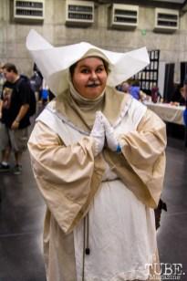 The Sisters of Plenitude, Doctor Who cosplay. Sacramento Wizard World Comic Con 2015. Photo Sarah Elliott