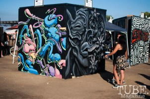 1810 Gallery provided walls for local artists to paint on during the festival. TBD Fest in Sacramento, Ca. September 2015. Photo Heather Uroff