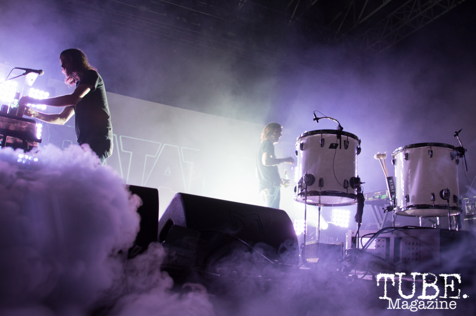 Ratatat playing on the Jukely Stage at TBD Festival in Sacramento, Ca. September 2015. Photo Alejandro Montaño