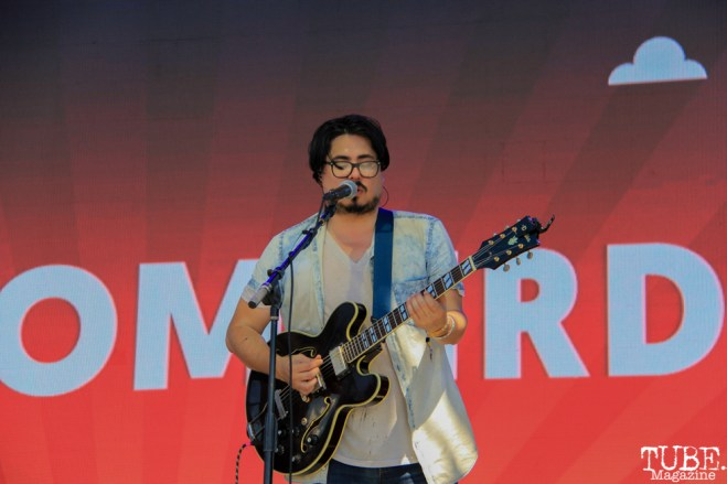 Doombird's singer, Kris Anaya at TBD, Sacramento CA. September 20, 2015. Photo Anouk Nexus