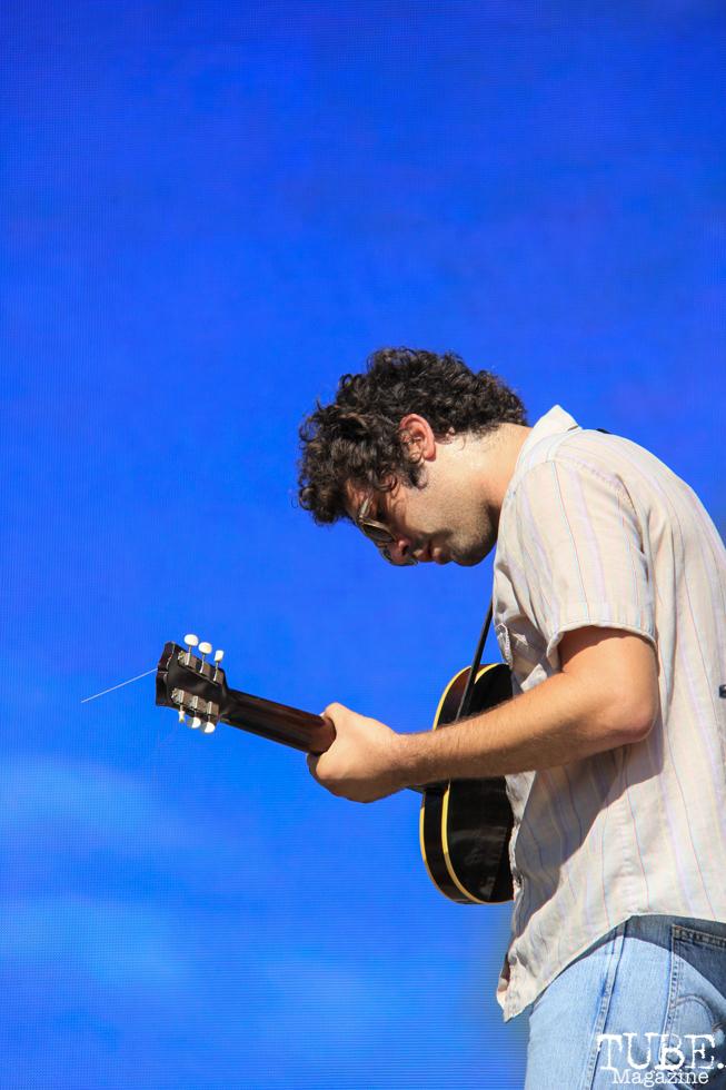 Allah-Las' singer/guitarist, Miles Michaud at TBD, Sacramento CA.September 20,2015. Photo Anouk Nexus
