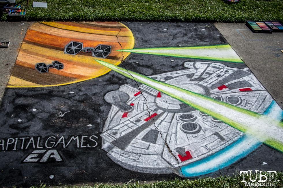 Capitol Games, Space Ship, Chalk It Up, Sacramento 2015, Photo Sarah Elliott
