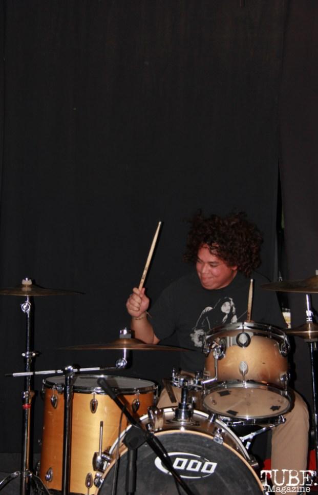 Drummer Jeff Reset of The Moans, Café Colonial, Sacramento, CA.January 8,2016. Photo Anouk Nexus