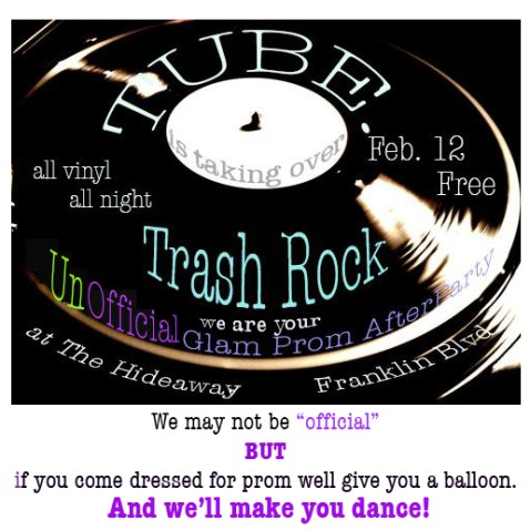 redue trash rock flyer
