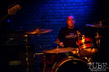 Drummer of the West Lords and Scratch Outs, Kurt Gardenhire, performing at the Blue Lamp. Sacramento CA. January 9 2016. Photo Melissa Uroff