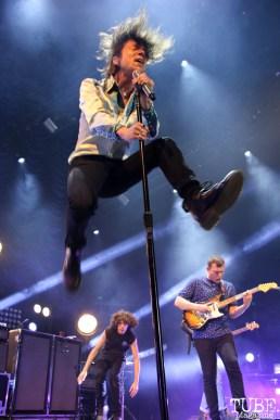 Matt Shultz singer of Cage the Elephant, Spring Fling at Sleep Train Arena, Sacramento, CA.March 12,2016. Photo Anouk Nexus
