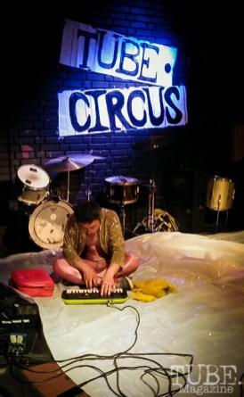 The music behind MOM. TUBE. Circus, Blue Lamp, Sacramento, May 2016. Photo Cheryl Uroff