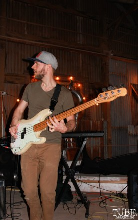Dave Middleton Bassist/Percussionist of Sunmonks, The Panama Art Factory, Sacramento, CA.April2016. Photo Anouk Nexus