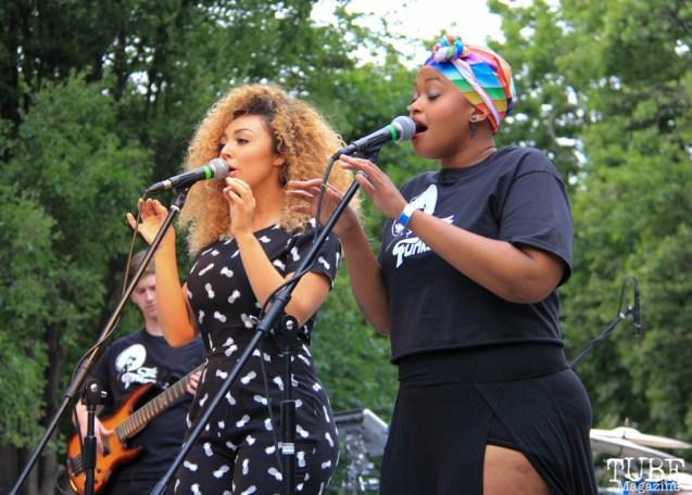The Funksters Singing with Tessa Evans, Cesar Chavez Park, Sacramento, CA. May 6th, 2016. Photo Anouk Nexus