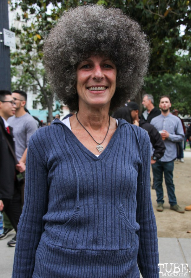 Lois Edrington, audience member, Cesar Chavez Park, Sacramento, CA. May 6th, 2016. Photo Anouk Nexus