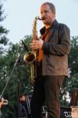Jacob Gleason Saxophonist of James Cavern, Cesar Chavez Park, Sacramento, CA. May 6th, 2016. Photo Anouk Nexus