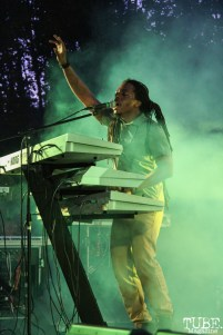 Tahir keyboardist of New Kingston, Concerts in the Park, Cesar Chavez Park, Sacramento, CA. May 13, 2016, Photo Anouk Nexus