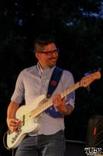 Quentin Garcia Bassist of James Cavern, Cesar Chavez Park, Sacramento, CA. May 6th, 2016. Photo Anouk Nexus