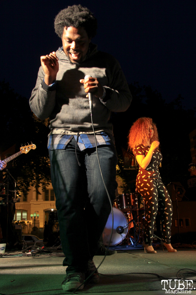 Special Guest playing with James Cavern, Cesar Chavez Park, Sacramento, CA. May 6th, 2016. Photo Anouk Nexus