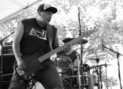 Alex Dorame vocals/bassist of PEACE KILLERS, Concerts in the Park, Cesar Chavez Park, Sacramento, CA. June 3, 2016, Photo Anouk Nexus