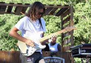 Guitarist of IrieFuse, Taylor Stecker, Concerts in the Park, Cesar Chavez Park, Sacramento, CA. June 24, 2016. Photo Anouk Nexus