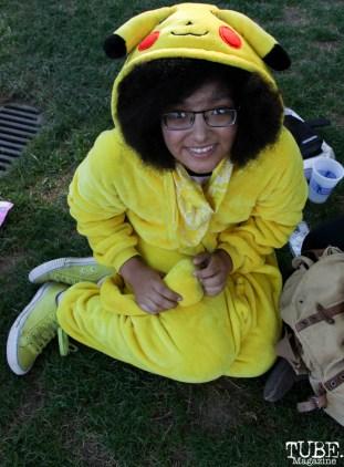 Audience member, Jocelyn La Rae Mills, Concerts in the Park, Cesar Chavez Park, Sacramento, CA. June 24, 2016. Photo Anouk Nexus