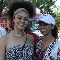 Audience members, Taylor Desmangles and Bella Wether, Concerts in the Park, Cesar Chavez Park, Sacramento, CA. June 24, 2016. Photo Anouk Nexus
