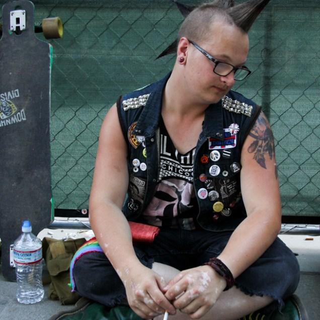 Chase Hendrick audience member, Concerts in the Park, Cesar Chavez Park, Sacramento, CA. June 3, 2016, Photo Anouk Nexus