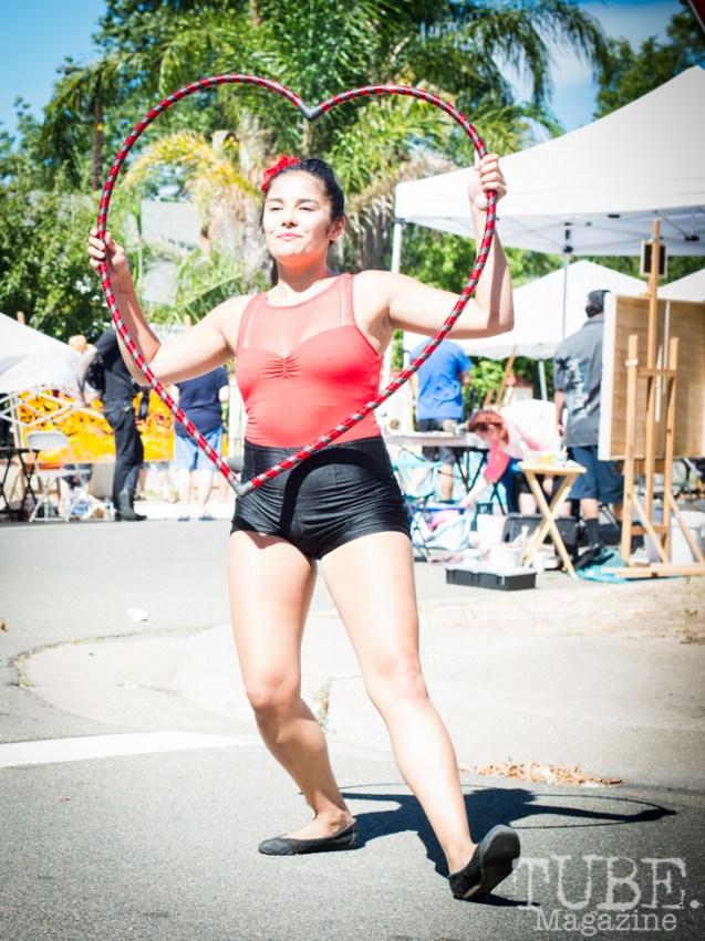 Hula Hoop performers at the Crocker Block by Block Party in District 5, July 9, Sacramento CA. Photo Melissa Uroff