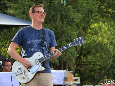 Guitarist Matt Levine of Soft Science, Concerts in the Park, Cesar Chavez Park, Sacramento, CA. July 15, 2016. Photo Anouk Nexus