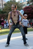 Kenny Buchanan, otherwise known as Kenny the Dancing Man, Concerts in the Park, Cesar Chavez Park, Sacramento, CA. July 15, 2016. Photo Anouk Nexus