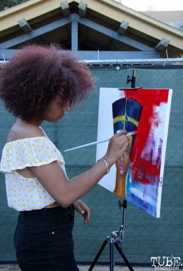 Artist Aliyah Sidqe, Concerts in the Park, Cesar Chavez Park, Sacramento, CA. July 15, 2016. Photo Anouk Nexus