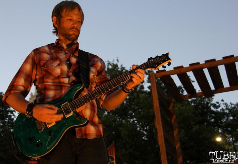 Guitarist for Tyler Rich, Concerts in the Park, Cesar Chavez Park, Sacramento, CA. July 8, 2016. Photo Anouk Nexus