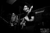 Guitarist Chris Teichman & Bassist Brad Teichman of Ancient Sons, Pets CD Release show, Hideaway, 8/20/16. Photo: Charles Gunn