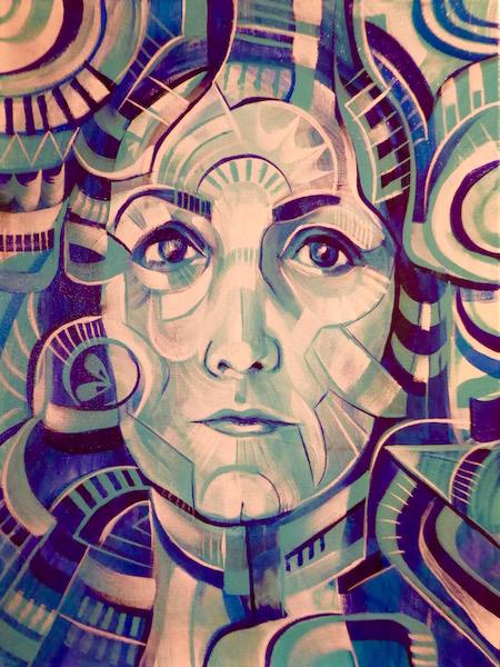 Portrait of Lisa Marasso by Shaun Burner.